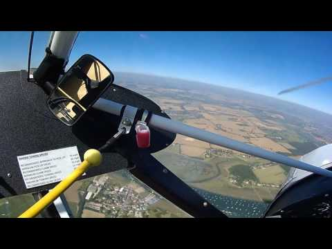 Solo in a Piper PA18-150 Super Cub from Goodwood