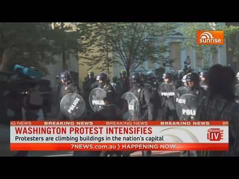 Australian news cameraman struck by US police in Washington D.C while covering George Floyd protests