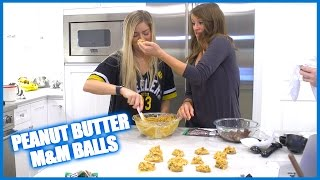Making Peanut Butter M&M Balls!
