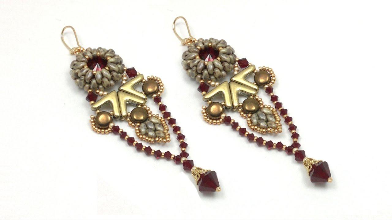 Download Yanara earrings (Egyptian / Art Deco style) beading tutorial