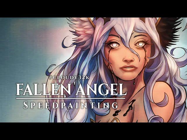 [Speedpaint] FALLEN ANGEL ⭐ Timelapse Drawing in Clip Studio Paint
