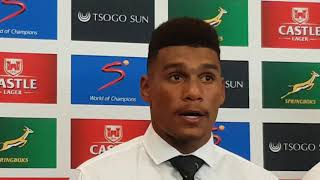 Damian Willemse's first press conference