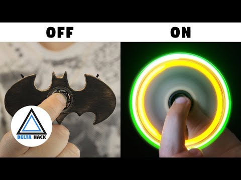 Batman LED Fidget Spinner | DIY