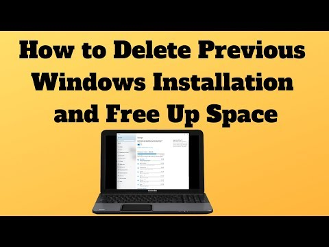 How To Delete Previous Windows Installation And Free Up Space