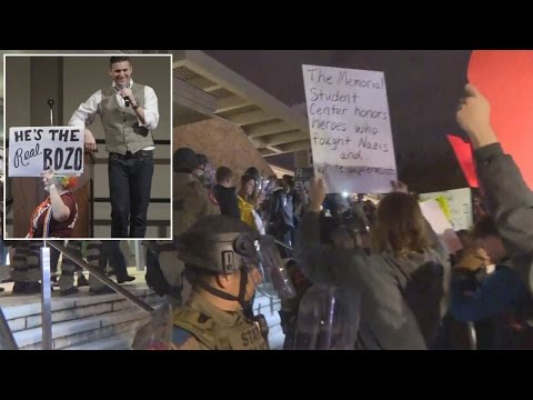 White Nationalist Richard Spencer Draws Hundreds of Protesters At College Campus