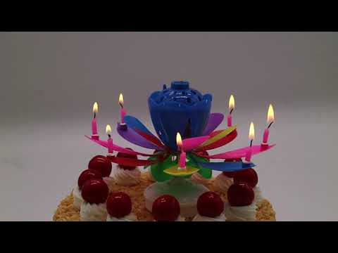 Magical Musical Flower Birthday Candle LOTUS CANDLE