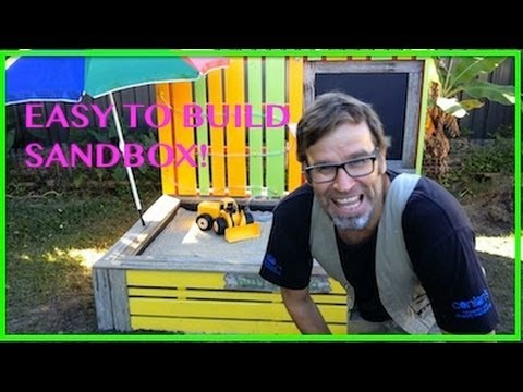 How to Build a Sandbox / Sandpit using Wooden Pallets.