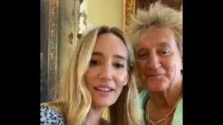 Rod Stewart & Ruby Stewart (Daughter) INSTAGRAM LIVE (Due to the Virus) FULL