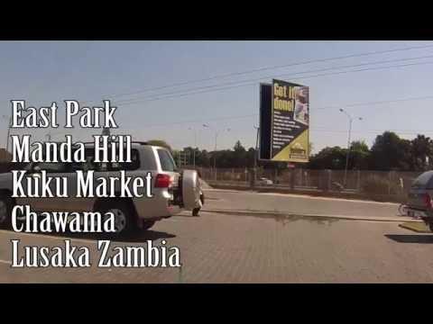 East Park - Manda Hill - Kuku Market - Chawama - in a Taxi Lusaka Zambia - Dash Cam
