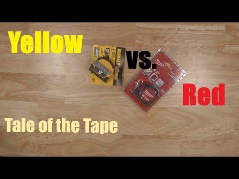 Pocket Tape Measures (DeWALT vs Milwaukee)
