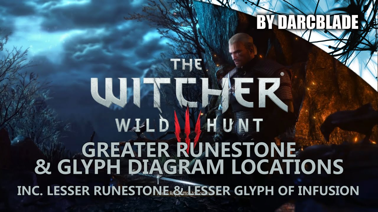 Greater Runestone & Glyph Diagram Locations : The Witcher 3 - YouTube