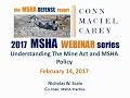 MSHA 101: Understanding the Mine Act