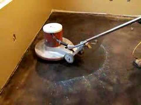 Kemiko Concrete Floors Being Waxed