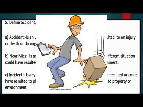Health and Safety 3,accident,incident and near miss..Urdu/Hindi