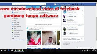 Cara Download Video di Facebook Lewat PC Gampang Banget Tanpa Software