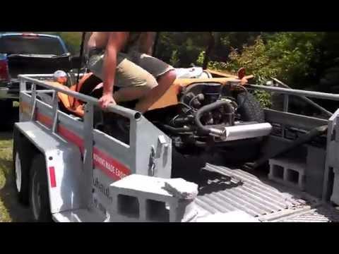 Dune buggy trailer load.