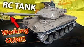 TOO Dangerous for kids - RC TANK with working GUN Heng Long 1/16 3839-1