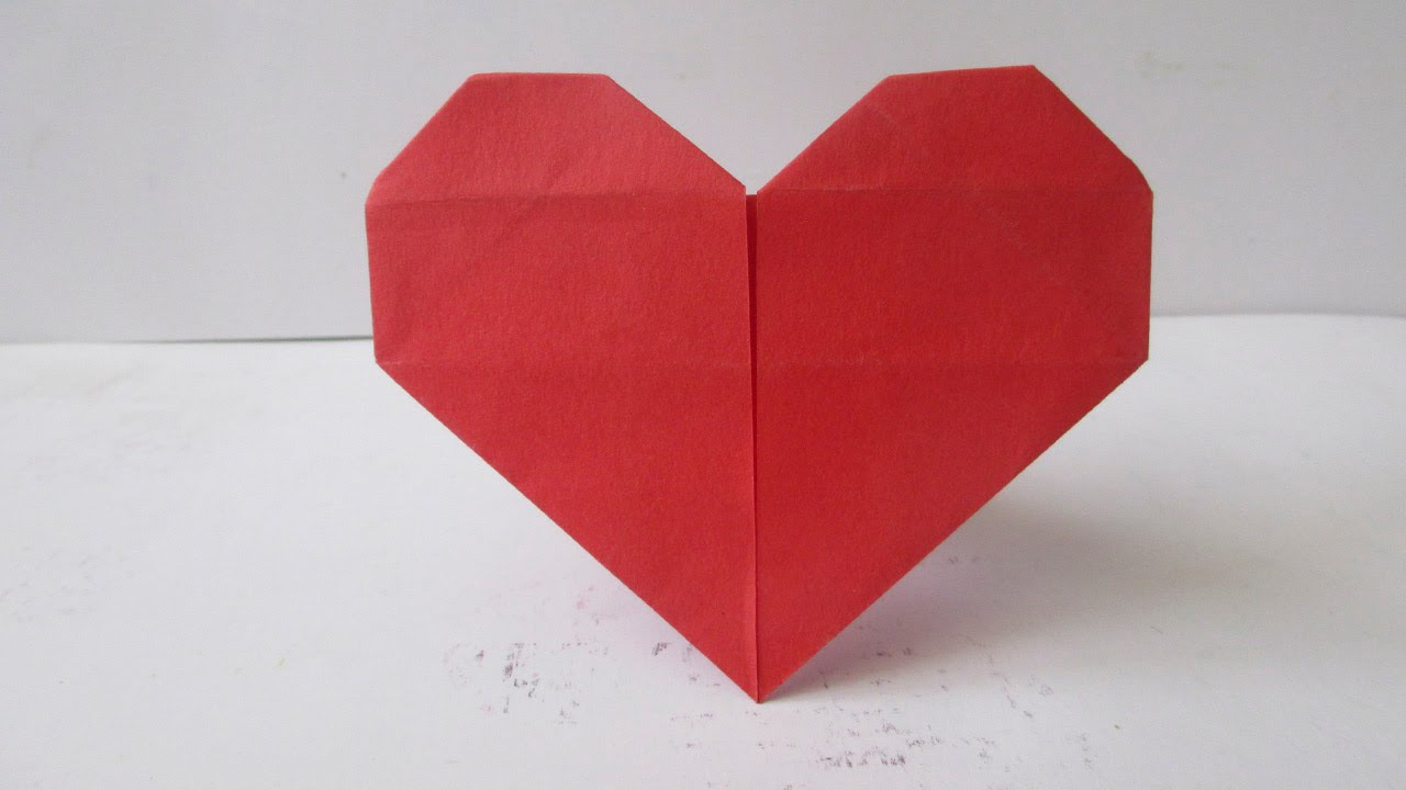 Como hacer un coraz n de papel por san valentin youtube - Corazones de san valentin ...