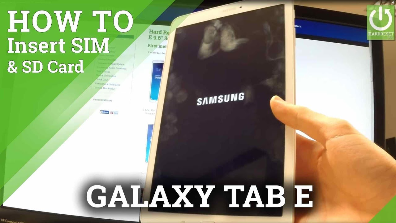 peut on mettre une carte sim dans une tablette samsung Insert SIM and SD Card in SAMSUNG T561 Galaxy Tab E 9.6
