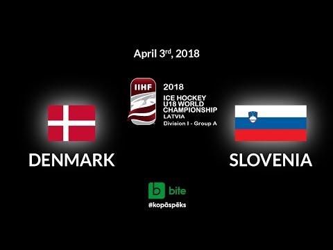 Denmark - Slovenia, Ice Hockey U18 World Championship, 2018