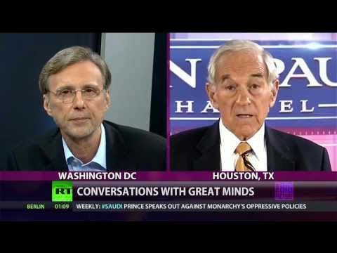 """Conversations w/ Great Minds - Rep. Ron Paul - About """"Too Big to Fail"""" Banks"""