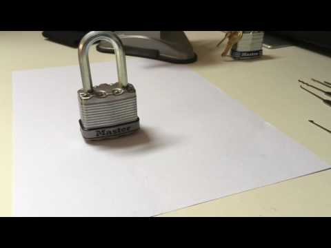 How to Rake Locks Open - Master Lock 3 and Master Lock Excel Demonstration