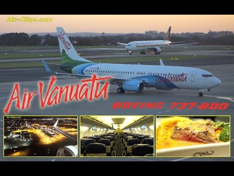 Air Vanuatu Boeing 737-800 Business Class Sydney to Vanuatu, AMAZING! [AirClips full flight series]