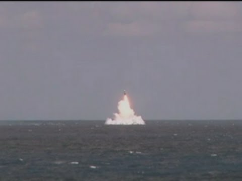 Trident missile test launch in Atlantic Ocean