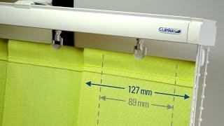 Vertikální žaluzie Blue line značky CLIMAX zastíní malé i velké plochy