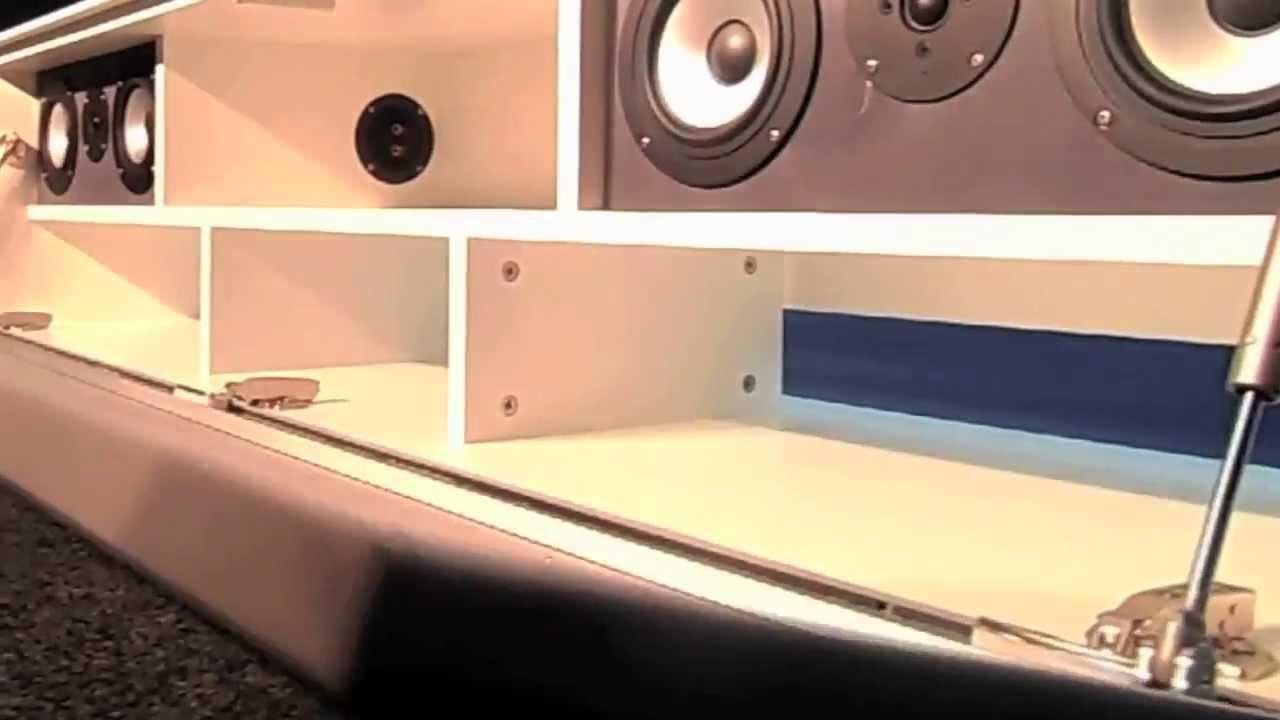 Hybrid one tv audiomeubel met ingebouwd for Ingebouwd zwembad zelf maken