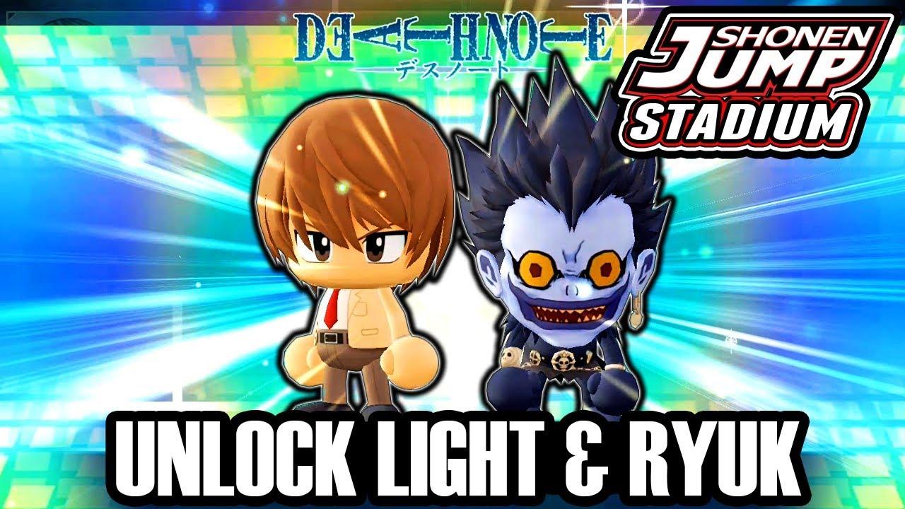 Jump Stadium How To Unlock Light & Ryuk Gameplay - Jump Anime Smash Bros  Gameplay Tutorial (Mobile)