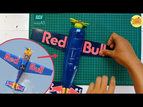 How To Make Redbull Aerobatic Plane Out Of Plastic Bottle | Pesawat Akrobatik Dari Botol Bekas
