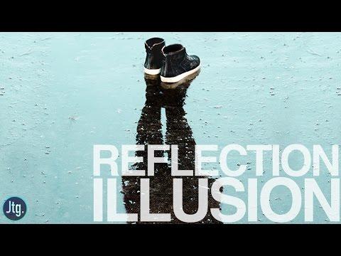 Photoshop Tutorial: Floating Shoe Reflection Illusion ( Photo manipulation Effect )