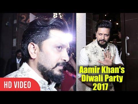 Riteish Deshmukh at Aamir Khan's Diwali Party 2017 | Viralbollywood