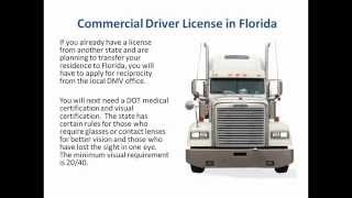 Cdl Florida Commercial Drivers License Florida