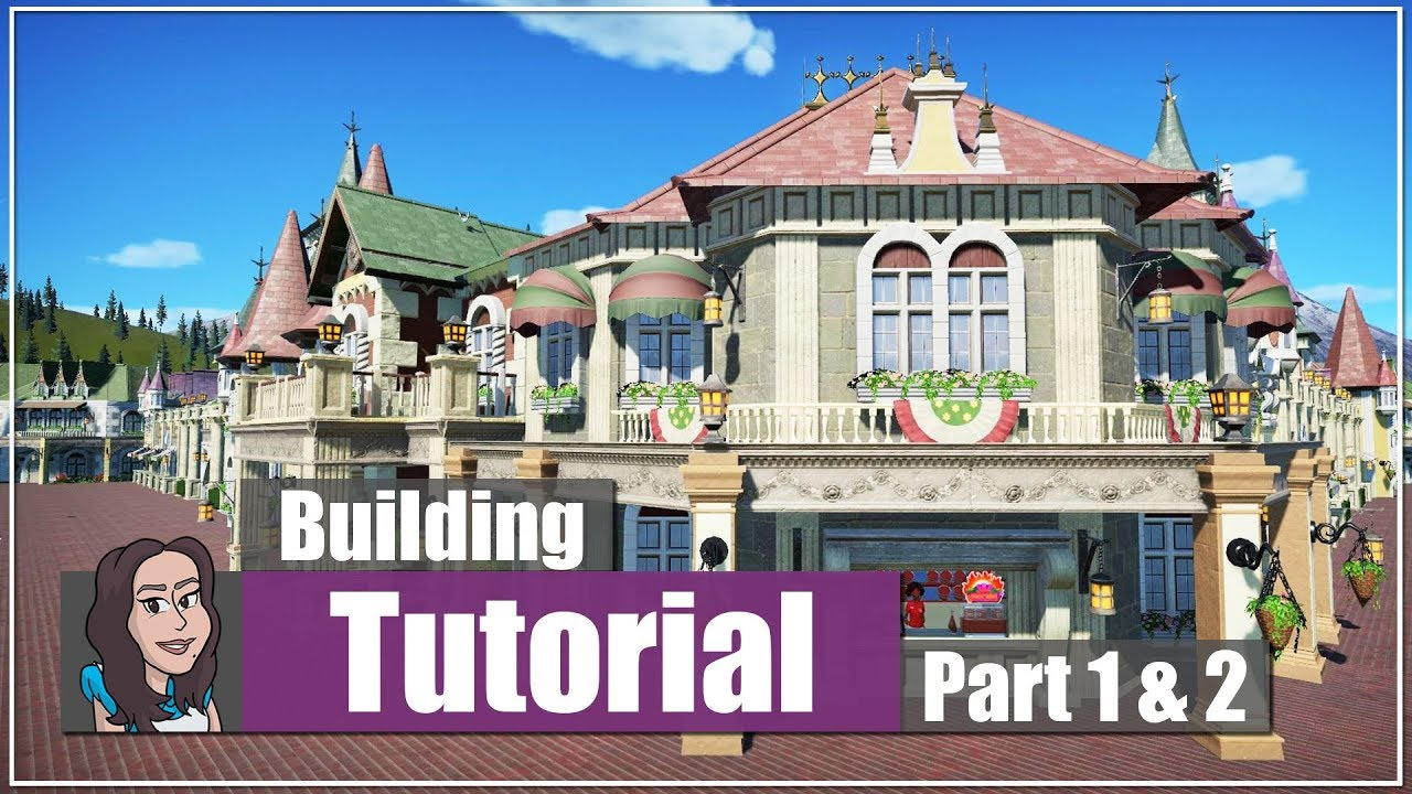 planet coaster tutorial how to build a main street corner planet coaster tutorial how to build a main street corner building part 1 and 2 youtube
