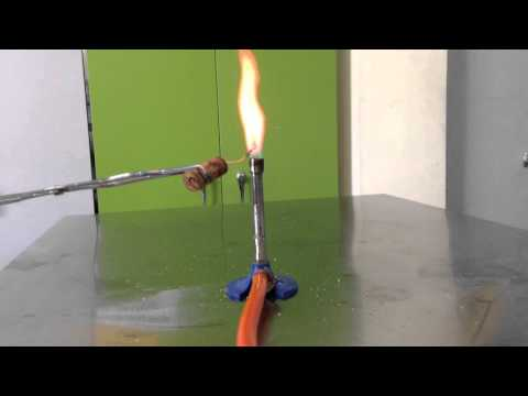 Flame test: Lithium chloride