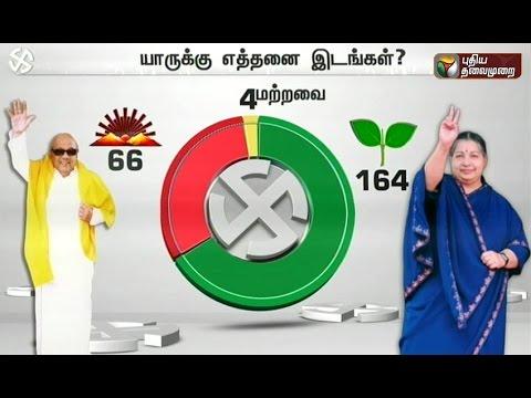 Tamil Nadu Election 2016 | Puthiya Thalaimurai-APT pre-poll survey Part - 2 09/04/2016
