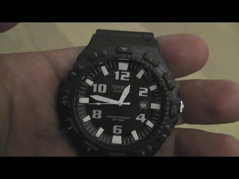 Casio MRW-S300H-1B Solar Analog Quartz Watch