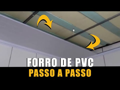 forro de pvc aprenda  passo a passso (PVC Cladding - with subtitles)