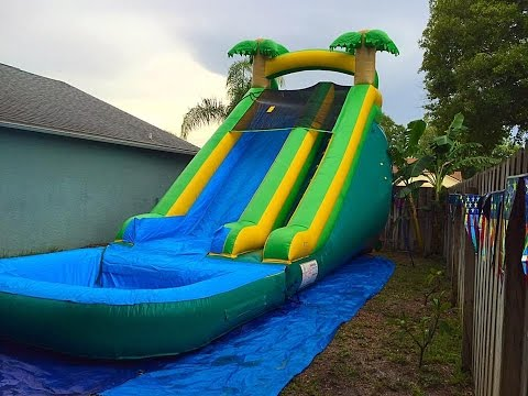 Deliver 2 water-slides and a combo bounce house. Sugar cane and swimming pool fun. Drive the Benz.