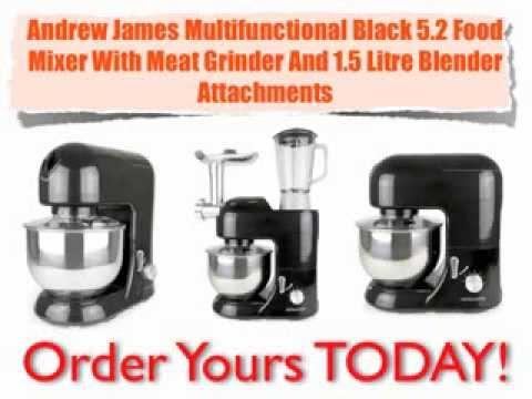 andrew james multifunctional black 5 2 food mixer with meat grinder review andrew james multifunctional black 5 2 food mixer with meat      rh   youtube com
