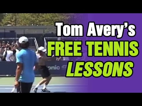 Tom Avery's FREE Tennis Lessons - 2010 US OPEN Day#2