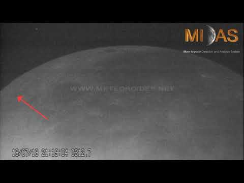 Watch Meteoroids Strike the Moon's Surface in Awesome MIDAS Footage