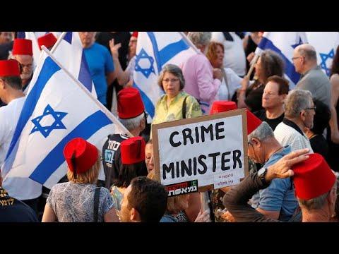 Milhares nas ruas contra Netanyahu