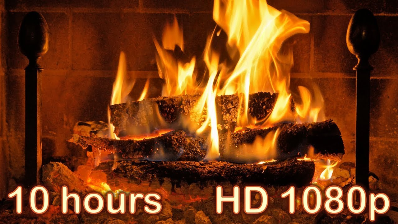 ✰ 10 HOURS ✰ Fireplace Burning ✰ HQ fireplace sound ✰ Sleep Sounds with Relaxing Fireplace Full HD