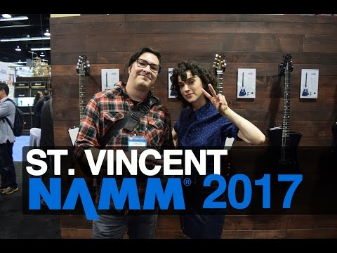 St Vincent on Her Ernie Ball Music Man Guitars NAMM 2017