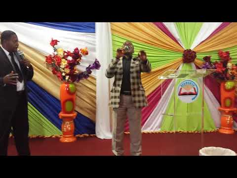 Pastor Serge Matadi in Service at Rehoboth Church South Africa. Sunday 03 September 2017