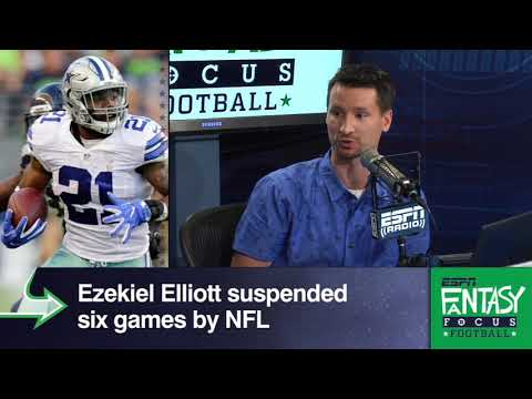 How Ezekiel Elliott's Suspension Affects Your Fantasy Roster | Fantasy Focus | ESPN