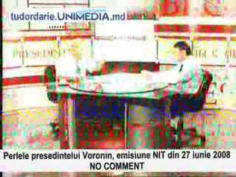 Voronin vorbeste in limba moldoveneasca